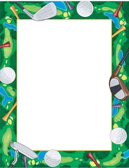 golf border templates