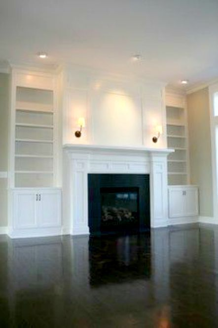 Hudson Lighting Wall Sconces Custom Fireplace And Built-in Bookcases By Prestige Homes