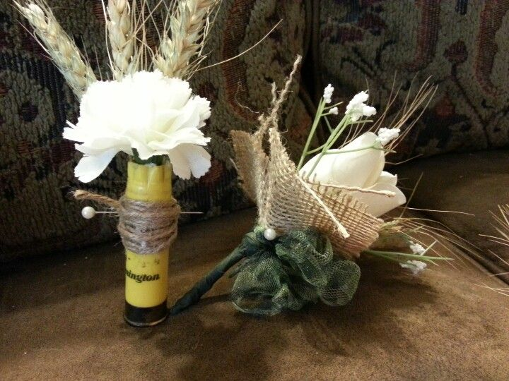 Carnation Flower Corsage Shotgun Shell Boutonniere And Women's Corsages | Camo