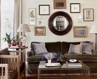 decorating around a brown couch via homedesign-proprety ...
