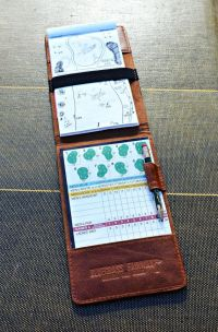 Personalized Handmade Leather Golf Scorecard Holder ...