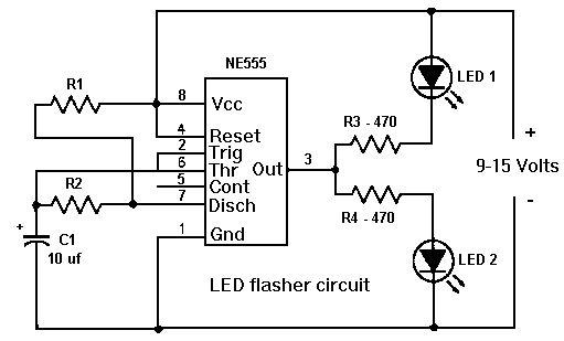 555 timer led flasher projectbase