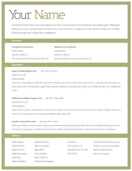 creative resume template of soft skills