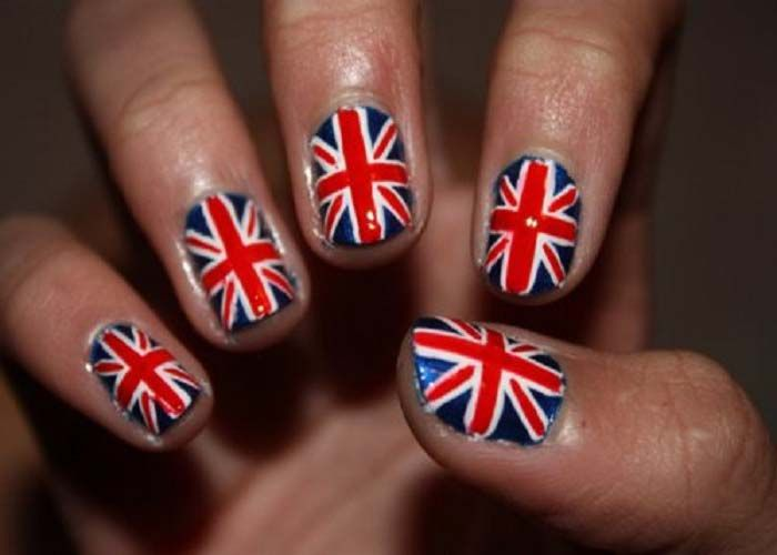 17 Best ideas about British Flag Nails on Pinterest