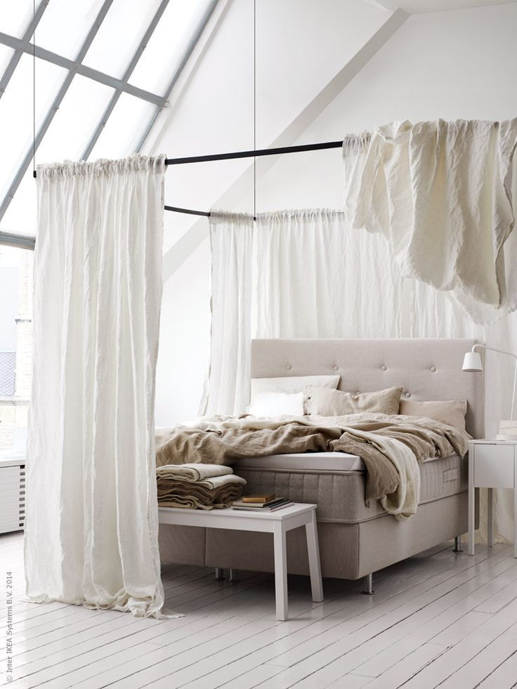 Ikea Boxpring 1000+ Ideas About Canopy Bed Curtains On Pinterest | Bed