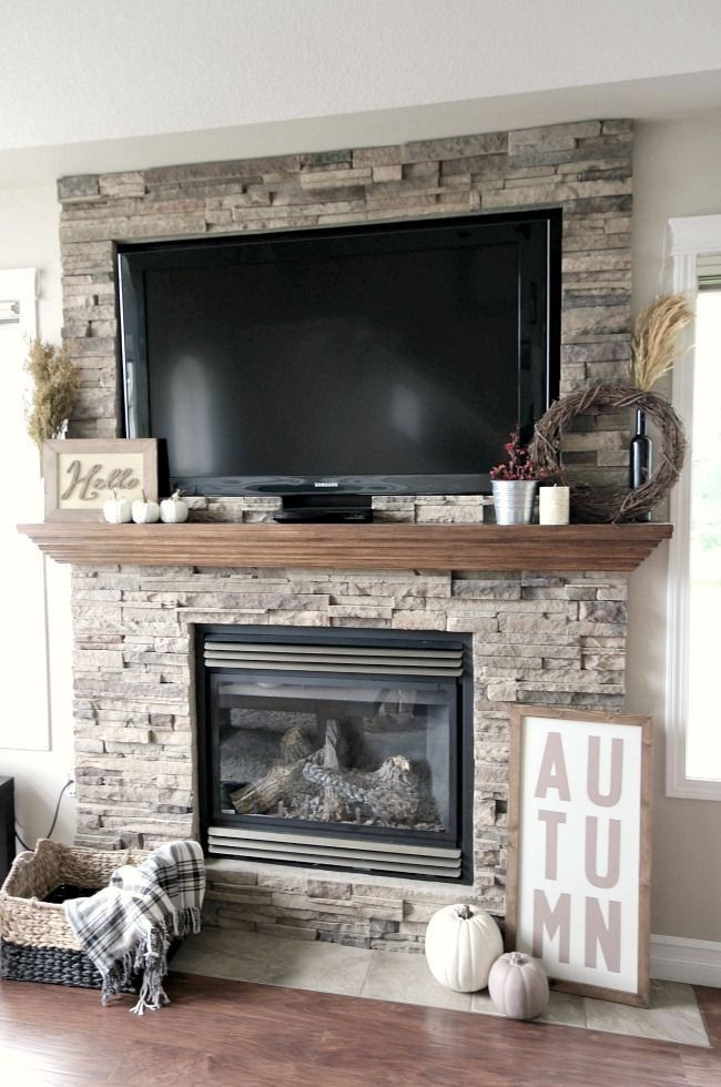17+ best ideas about Stacked Stone Fireplaces on Pinterest