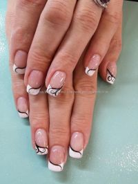 White Nails With Gold Tips | Joy Studio Design Gallery ...