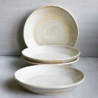 Rustic Dinner Plates Pair of Two Handmade Ceramic Dishes ...