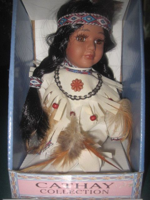 Barbie Girl Doll Wallpaper Cathay Collection Porcelain Doll Indian Native American
