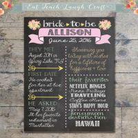1000+ ideas about Bridal Shower Chalkboard on Pinterest ...