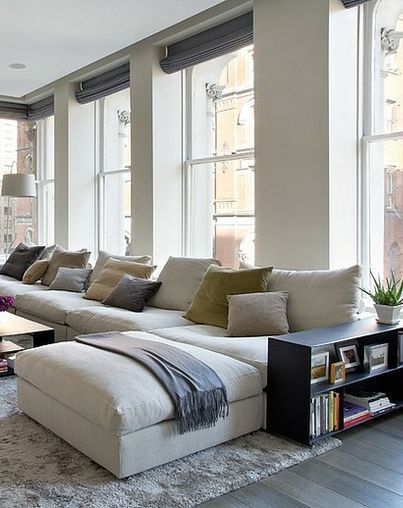 Wohnzimmer Fenster Couch How To Style A Modern Sofas In A Big Living Room Set