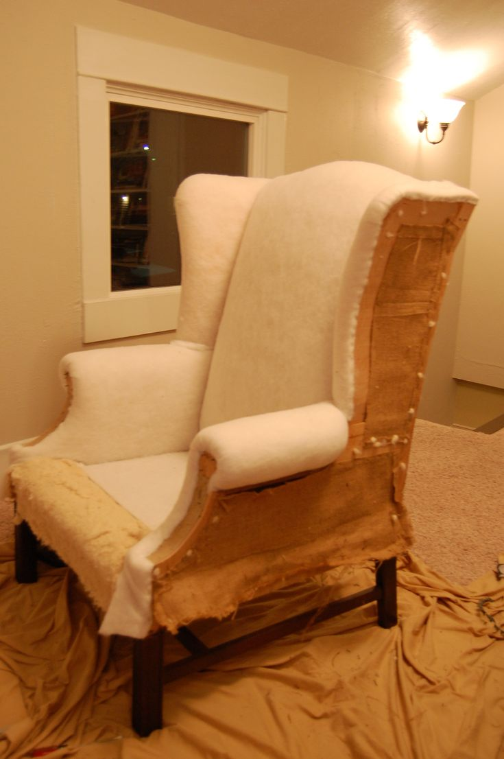 How To Reupholster A Wingback Chair Wingback Chairs