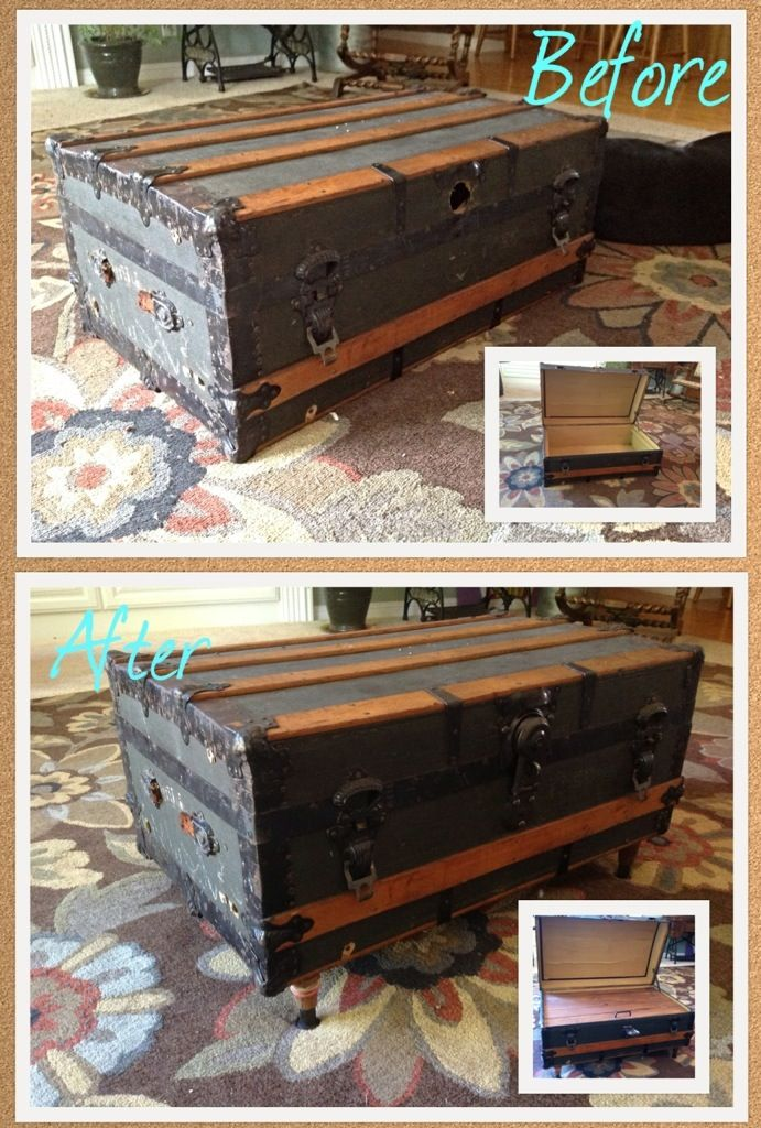 Couchtisch Truhe Vintage Diy Antique Trunk Coffee Table | For The Home | Pinterest