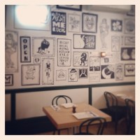 Wall treatment - interesting! Great if you had a cafe ...