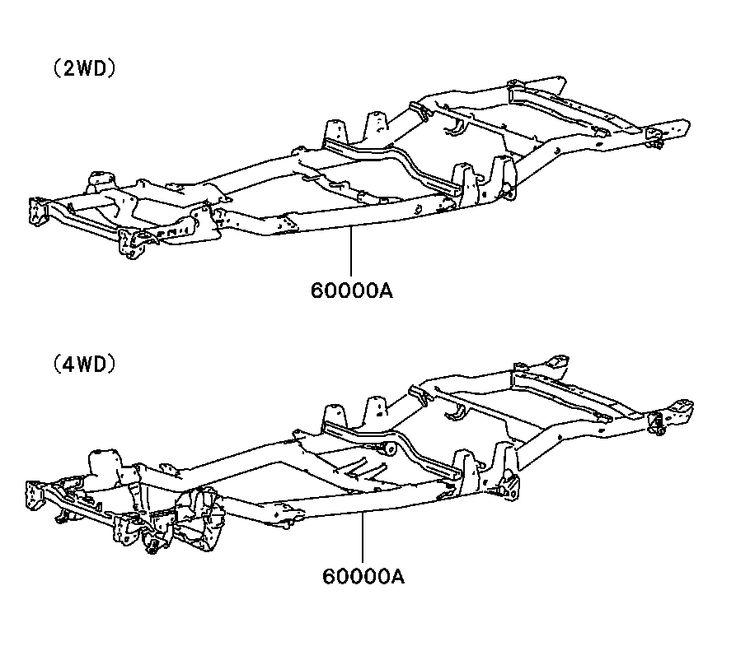 toyota 4x4 truck auto parts diagrams