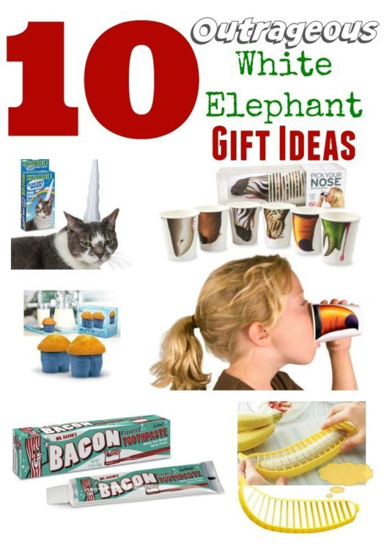 gifts christmas ideas on pinterest gag saveenlarge 25 hilarious white elephant