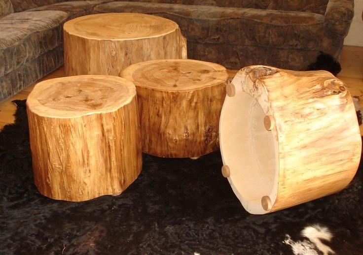 Baumstamm Als Couchtisch Beistelltisch Hocker Boholz