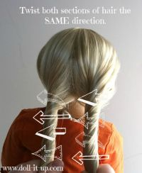 rope braid. do this on wet hair, then twist the two ...