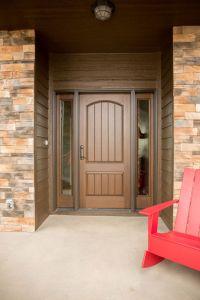 Exterior Doors   mahogany textured fiberglass entry system ...
