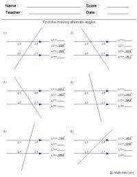 Find Alternate Angles Worksheets - worksheets for ALL ...
