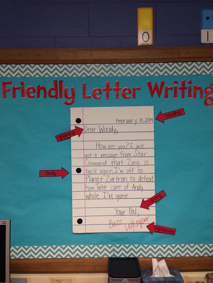 friendly letter setup