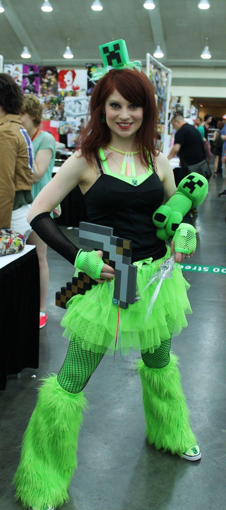 Creeper Wallpaper Hd Minecraft Creeper Cosplay Girl Minecraft Pinterest