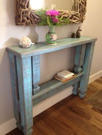 Finished narrow entryway table. | Foyer | Pinterest ...