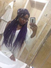 1000+ ideas about Purple Box Braids on Pinterest   Box ...
