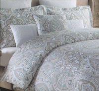 Tahari Home 3pc Luxury Duvet Cover Set Blue Gray Taupe ...