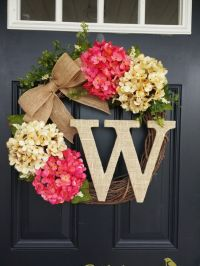 25+ best ideas about Door wreaths on Pinterest | Letter ...