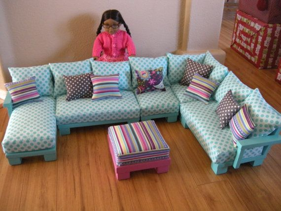 Doll Couch Chairs Living Room Furniture Sectional for