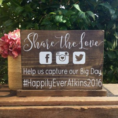25+ Best Ideas about Wedding Hashtag Sign on Pinterest ...