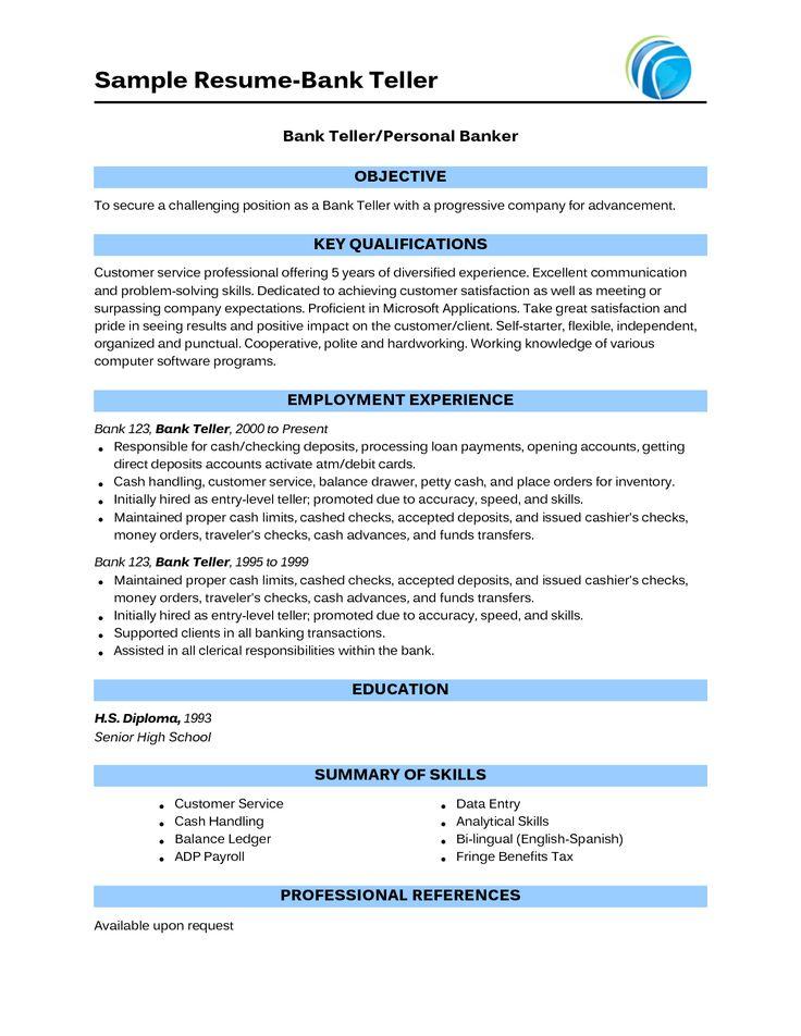 Teller Job Resume Bank Teller Resume Example Sample Template Job - teller job description resume