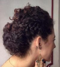 1000+ ideas about Easy Curly Updo on Pinterest | Curly ...