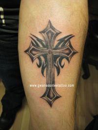 25+ best ideas about Tribal cross tattoos on Pinterest ...