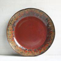 Rustic Dinnerware | Rustic Dinnerware Plate Red and Black ...