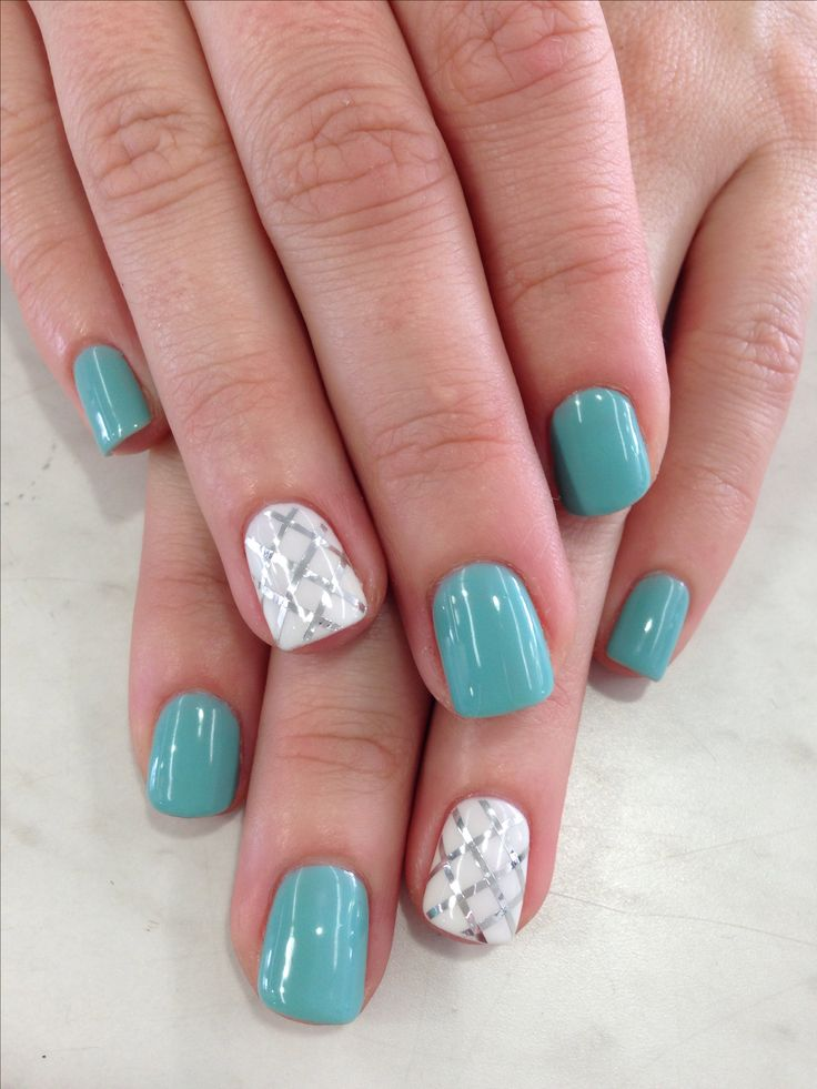25+ best ideas about Aqua nails on Pinterest