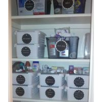 Newly organized bathroom cabinet | Household organization ...
