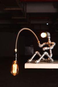 EBE Designer Industrial Lighting - Steampunk Lamp Table ...