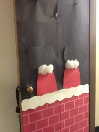 Santa stuck in the chimney door | Door Decor | Pinterest ...