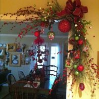 Door frame decoration | Christmas | Pinterest | Christmas ...