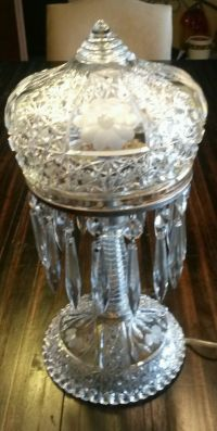 1000+ images about Vintage crystal prism lamps on ...