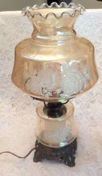 1950s Large Iridescent Gold Carnival Glass Hollywood ...