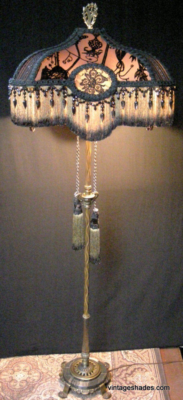 Antique Floor Lamp Signed Rembrandt Lamp Circa 1920s