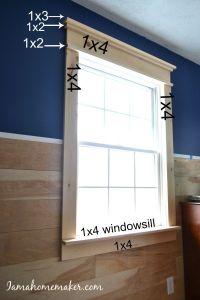 Farmhouse Window Trim | Window, Farmhouse windows and Doors