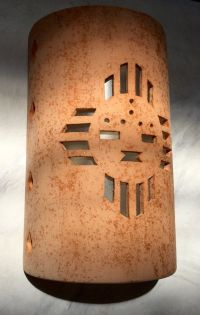 Outside Wall Sconce, Zia Sunface, Southwestern Wall Sconce ...