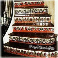 Mexican Tile - kitchen backsplash, bathroom & stairs