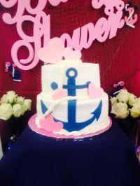 Nautical anchor baby shower cake | The Flour Girl-Cakes ...