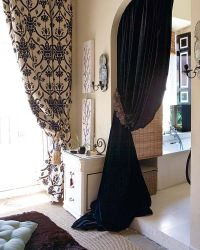 Curtain in arched doorway | Design: Window Treatments ...
