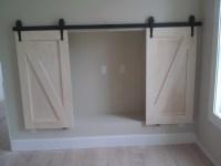 Barn Doors with carmel glaze | Kitchen Cabinets ...